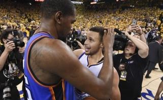 """K.Durantas apsisprendė: žvaigždė jungiasi prie """"Warriors"""""""
