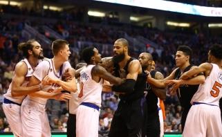 """K.Porzingis sukėlė konfliktą, """"Knicks"""" su M.Kuzminsku pralaimėjo po pratęsimo"""