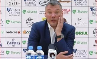 Po pralaimėjimo Š.Jasikevičius bedė pirštu į savo žaidėjus: jie neatėjo į rungtynes