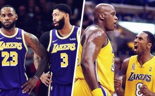 Sh.O'Nealas: LeBronas ir Davisas niekada netaps sekančiais Shaqu ir Kobe