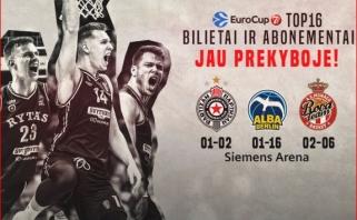 """Bilietai ir abonementai į """"Ryto"""" kovas Europos taurės TOP-16 etape - jau prekyboje!"""