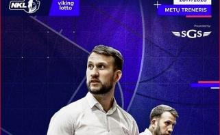 Pirmus metus vyr. treneriu dirbęs K.Mačijauskas - NKL sezono strategas