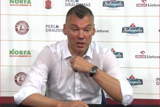 """Š.Jasikevičius - apie sulysusį A.White'ą, P.Valinsko sezoną ir """"Ryto"""" pergalę"""