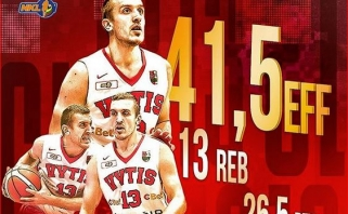 NKL savaitės MVP - savo rekordus gerinęs M.Užupis