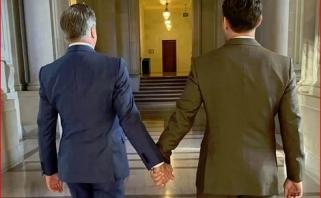 """""""Warriors"""" prezidentas įteisino vienalytę santuoką"""