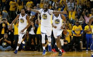 """Be intrigos: """"Warriors"""" pirmajame pusfinalio mače sutriuškino """"Pelicans"""""""