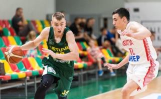 Lietuvos vaikinų rinktinė nugalėjo Kroatijos krepšininkus