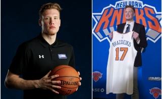"""Valančiūno numerį Brazdeikiui patikėjusio """"Knicks"""" prezidentas: negalvojau, kad jį gausime"""