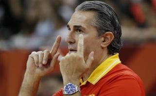 Su ispanais pasaulio čempionate triumfavęs S.Scariolo netiki, kad olimpiada startuos laiku