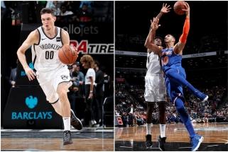 """NBA: puikus latvio debiutas neišgelbėjo Kanterio nesustabdžiusių """"Nets"""" (rezultatai)"""