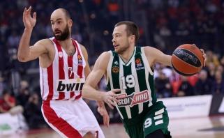 """Graikijos grandų dvikovoje """"Olympiakos"""" įveikė """"Pao"""" su L.Lekavičiumi"""