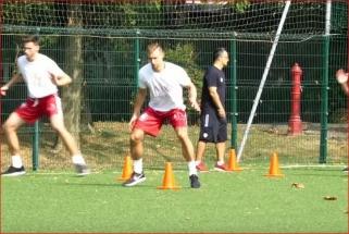 Milano komandos treniruotėje pluša ir D.Dulkys