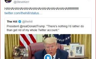 """S.Kerras pasijuokė iš D.Trumpo konflikto su """"Twitter"""""""