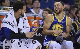 S.Curry: K.Thompsono trauma - spyris į tarpukojį, buvo daug ašarų