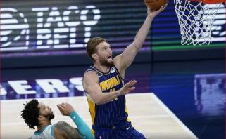 """Kova tęsiasi: po krepšiais dominavęs Sabonis ir """"Pacers"""" paliko šlapią vietą iš """"Hornets"""""""