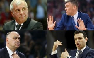 Finalo ketverto treneriai: Ž.Obradovičius ir trys jo mokiniai