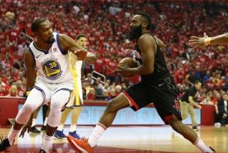 "Finalo vertame mūšyje - epiška Duranto ir Hardeno dvikova bei ""Warriors"" triumfas"