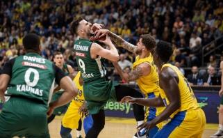 """""""Žalgiris"""" išsivežė dramatišką pergalę iš Tel Avivo"""