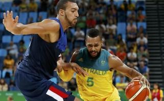 Pirmoji sensacija: Australijos krepšininkai sutriuškino Prancūziją
