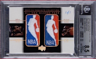 Kolekcinė L.Jameso ir M.Jordano kortelė parduota už kosminę sumą