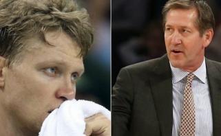 """""""Knicks"""" fanai pasipiktinę: už 3 mln. dolerių M.Kuzminskas negauna net """"šiukšlinų"""" minučių"""