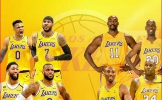 """Pierce'as: dabartiniai """"Lakers"""" labai primena komandą su Malone'u ir Paytonu"""