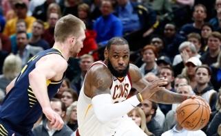 """D.Sabonis ir """"Pacers"""" nutraukė įspūdingą """"Cavaliers"""" pergalių seriją"""