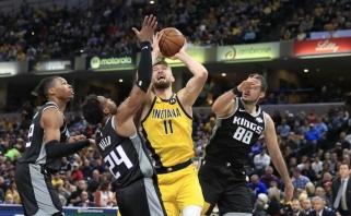 """D.Sabonis karaliavo prieš """"Kings"""" bokštus, o """"Pacers"""" aplenkė vienus NBA favoritų"""