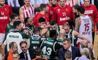 """Skandalų sezonas Graikijoje: """"Oly"""" sirgaliai įbaugino teisėją, o """"Pao"""" boikotuoja rungtynes"""