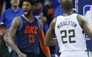 """NBA: George'o vedami """"Thunder"""" parklupdė lygos lyderius (rezultatai)"""