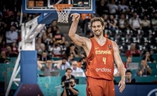 Ispanai - nepralaimėję, P.Gasolis - rezultatyviausias visų laikų EČ žaidėjas (video)