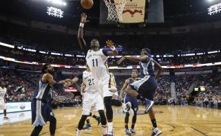 """Atgimstantys """"Pelicans"""" iškovojo dar vieną svarbią pergalę, D. Motiejūno vaidmuo – epizodinis"""