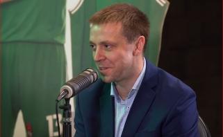 """Naujoje """"Žalgirio"""" laidoje - išsamu interviu su komandos vadovu P.Motiejūnu"""