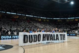 """Po anapilin iškeliavusio Dudos pagerbimo – """"Partizan"""" pergalė prieš Eurolygos čempionus"""