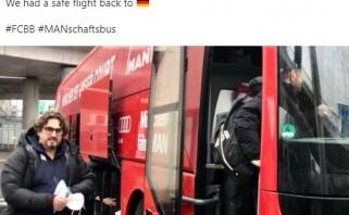 """""""Bayern"""" atsakė """"su...os"""" kelionės jiems palinkėjusiam Messinai"""