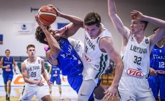 Europos čempionate tragiškai iš toli atakavę lietuviai nusileido ir italams