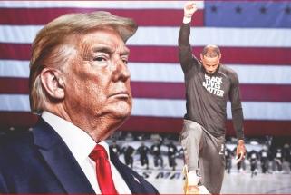 D.Trumpas: politizuotos NBA reitingai krenta, tikiuosi, futbole ir beisbole neseks jų pavyzdžiu