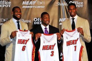 """D.Wade'as: """"Heat"""" """"Didysis trio"""" nėra geriausias NBA istorijoje, tačiau tikrai vienas geriausių"""