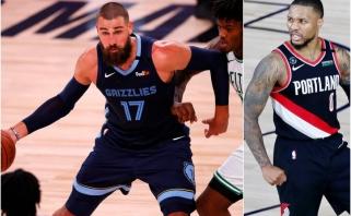 "NBA: ""Grizzlies su J.Valančiūnu artėja prie fiasko, ""Blazers"" gretose - D.Lillardo benefisas"
