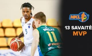 NKL rezultatyvumo rekordą pagerinęs J.Riley ketvirtą kartą tapo savaitės MVP