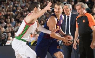 Ispanijos klubų dvikovoje Eurolygoje katalonai užtikrintai įveikė baskus