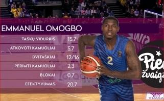 E.Omogbo - LKL spalio mėnesio MVP