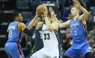 """Tarp NBA """"Visų žvaigždžių"""" mačo rezervinių žaidėjų - R.Westbrookas ir europietis"""