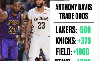 """JAV lažybininkai mano, kad įsigyti A.Davisą daugiausia galimybių turi """"Lakers"""""""