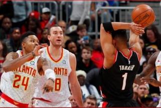 """""""Hawks"""" ir """"Blazers"""" apsikeitė didžiulius besibaigiančius kontraktus turinčiais žaidėjais"""
