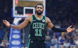 """""""Celtics"""" žvaigždė K.Irvingas """"nepasiėmė"""" 21,3 milijono"""
