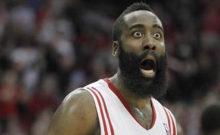 """NBA: J. Hardeno šou atvedė """"76ers"""" klubą prie istorinio antirekordo (kiti rezultatai)"""