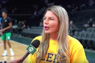 #ŽaliaBalta. Modelis S.Mykolaitytė - apie kraštietį žalgirietį, NBA ir lietuvius fanus