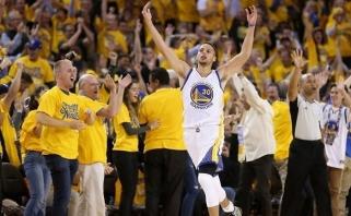 """NBA sezono favoritai """"Warriors"""" krepšininkai - Vakarų konferencijos finale"""