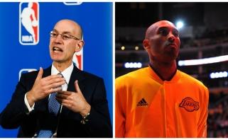 """NBA komisaras A.Silveris: tikiuosi pamatyti K.Bryantą """"Visų žvaigždžių"""" mače"""